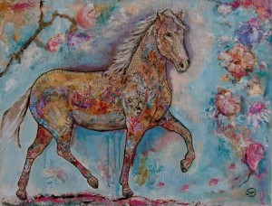art#moderne kunst#museum# mixed media# horses#paarden# art horses